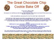 The Great Chocolate Chip Cookie Bake Off