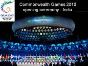 Commonwealth Games opening ceremony 2010-India