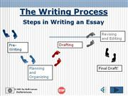 Writing an Essay (adapted from Ruth Luman: Modesto Junior College)