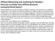 Affiliate Advertising and marketing for Newbies 3 - How