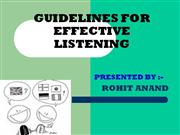 GUIDLINES OF EFECTIVE LISTING