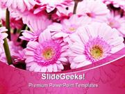PINK BOUQUET BEAUTY POWERPOINT BACKGROUNDS AND TEMPLATE