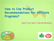 Recommendations for Affiliate Programs