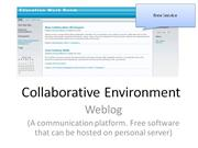 Collaborative Environment Blog