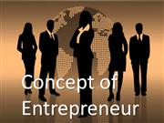 concept of entrepreneur