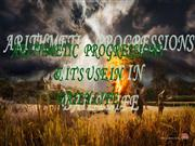 arithmetic progressions