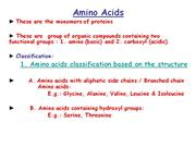 Amino Acids classification,transamination,deamination