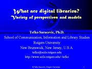 553 What are digital libraries