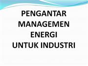 pengantar management energi