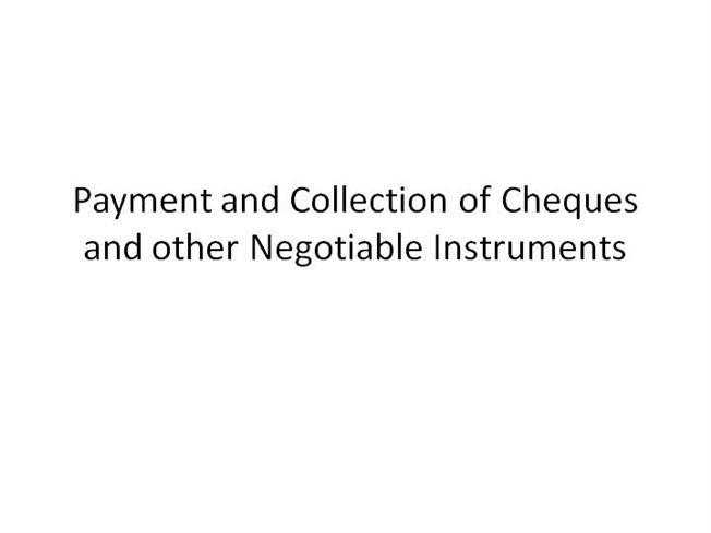 cheque crossed generally