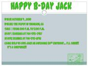 Happy B-day Jack