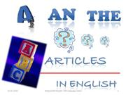 articles in english