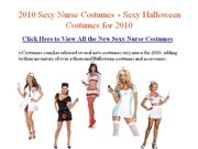 Sexy Nurse Costumes - Sexy Halloween Costumes for 2010