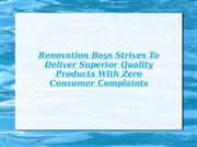 Renovation Boys: Complaints Free Services