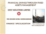 FINANCIAL SAVINGS THROUGH FIXED ASSETS MANAGEMENT