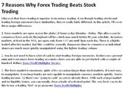 7 Reasons Why Forex Trading Beats Stock Trading 1
