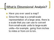 Dressen-Dimensional Analysis