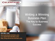 Writing a Winning Business Plan-SBDC Dom Celentano October 2010