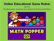 ED-271 Online Educational Game Rubric