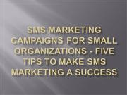 SMS Marketing Campaigns For Small Organizations - five
