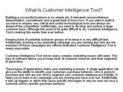 What Is Customer Intelligence Tool