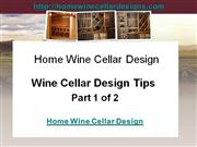 wine cellar design tips