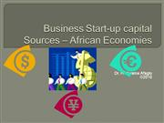 Business Start-up capital sources - Developing economies