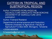 INTERGRATED AGRO-AQUACULTURE CATFISH IN TROPICAL AND SUBTROPICAL REGIO