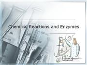Chemical Reactions and Enzymes - Blackboard