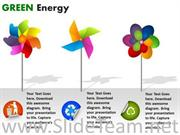 CIRCLE CHARTS GREEN ENERGY POWERPOINT SLIDES
