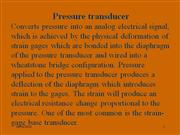 pressure transducers