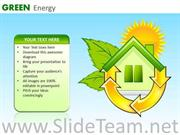 GREEN ENERGY CONSUMPTION HOME POWERPOINT SLIDES