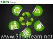 GREEN ENERGY ENVIRONMENT CONSERVATION ICONS PPT SLIDES