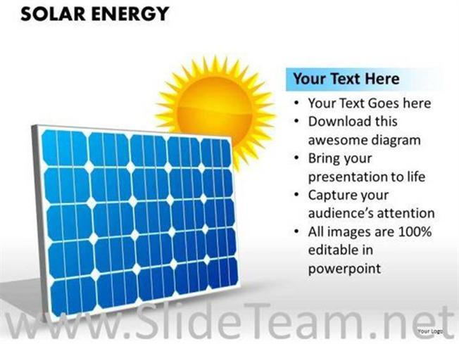 green solar energy powerpoint slides-powerpoint diagram, Powerpoint templates