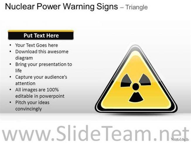 Danger Nuclear Power Warning Signs Powerpoint Slides Powerpoint Diagram