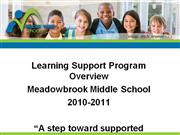 2010-2011 Resource Introduction