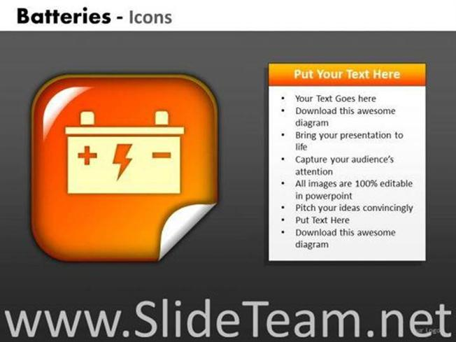 Car battery icon powerpoint slides powerpoint diagram ccuart Choice Image