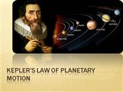 Kepler's Law of Planetary Motion