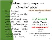 Techniques to improve concentration