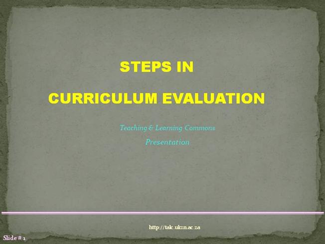 dynamic model of curriculum development slideshare