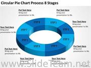 CIRCULAR PIE CHART PROCESS 8 STAGES