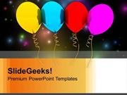 PARTY BALLOONS FESTIVAL POWERPOINT TEMPLATE