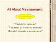 all about measurement