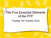5 Essential elements for parent presentation