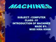 introduction of machines