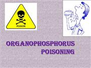organophosphorus poisoning