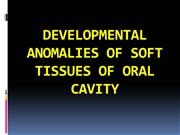 DEVELOPMENTAL ANOMALIES OF SOFT TISSUES