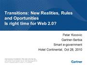 Transitions: New Realities, Rules and OportunitiesIs right time for W