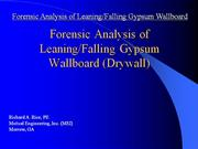 Drywall-Gypsum Wallboard Fatality