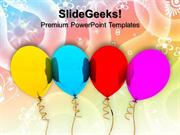 PARTY BALLOONS GIFT FESTIVAL POWERPOINT TEMPLATE